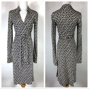 Diane von Furstenberg Jeanne Wrap Dress Black